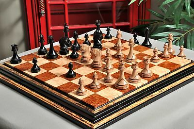 "The Avant Garde Series Luxury Chess Set - Pieces Only - 4.4"" King - Genuine Ebon"