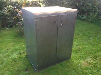 Vintage Metal Engineers Cabinet Cupboard Drawers Steel