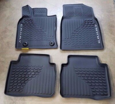 Toyota Camry 2018 All Weather Rubber Floor Liner Mat Set - OEM NEW!