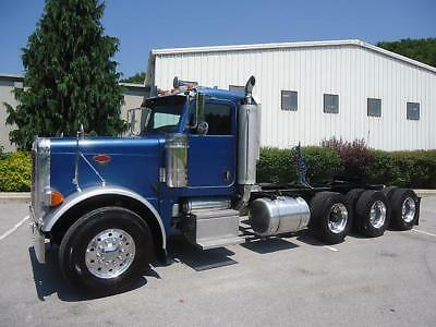 Peterbilt 379 Tri-Axle Daycab Fresh  C-15 Cat 475 Just Inframed Nice Truck