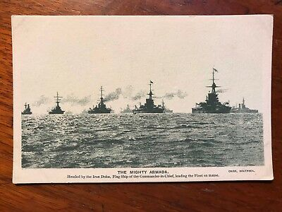 Singer Sewing: The Mighty Armada, Cribb, Southsea Postcard Ref044