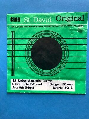 70s Vintage CMS St. David Original Guitar String by Cardiff Music String Co. UK!