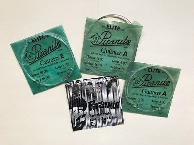 Pirastro Elite Piranito set of Four Vintage Guitar Strings. Circa 1970 Germany!