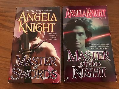 Angela Knight Books LOT OF 2 Master of the Night & Master of Swords Paperback