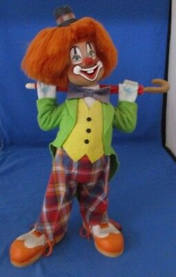 Joseph And Irene Toth Original Woodcarving Clown Signed, Date, Numbered