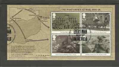 Sg3848 Gb The Post Office At War Very Fine Used Mini Sheet