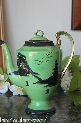 Antica Caffettiera Giapponese In Porcellana - Vintage Japonaise China Coffee Pot