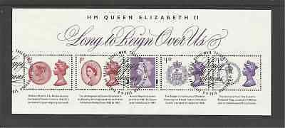 Ms3747 Gb Long To Reign Over Us Very Fine Used Mini Sheet