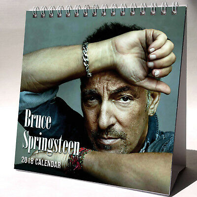 Bruce Springsteen Desktop Calendar 2018 NEW + FREE GIFT 3 Stickers Born To Run