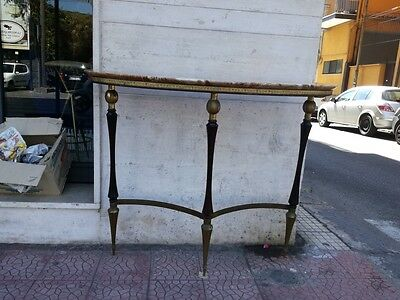 Console Buffa Brass E Wood And Marble. 50's