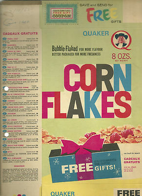 Quaker Oats Corn Flakes Bubble Flaked Peterborough Ont Free Gifts Displayed