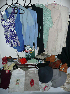 ASSORTED VINTAGE CLOTHING c.30s-70s incl Shirts & Collars Shoes Hats Belts +More