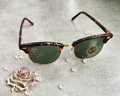 3a4dc456d6eec Ray Ban RB 3016 Clubmaster Classic W0366 Tortoise Frame Green Classic G-15  Lense