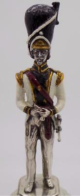 290g/10.229-oz. Antique Solid Silver British Grenadier Army Statue - Stamped