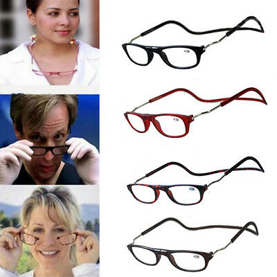 Fashion Folded Magnetic Click Reading adjustable Hang Around Neck Wear Glasses