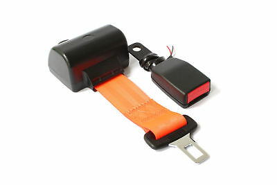 High Visibility Orange Retractable Wired Seat Belt Hi Vis Lap Belt Green Beacon