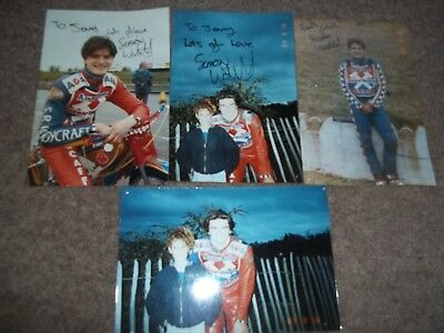Simon Wolstenholme Arena Essex Hammers Signed Photograph Collection X 4 Speedway
