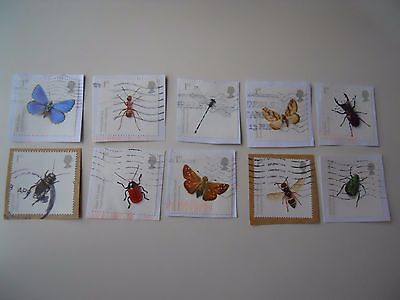 GB 2008 Commemorative Stamps Endangered Species - Insects Full Set Used Franked