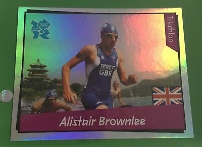 London Olympic 2012 Panini Sticker Rare Alistair Brownlee 394 Foil