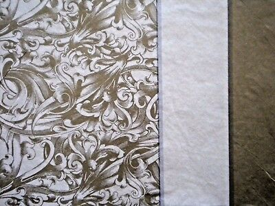 "8 SHEETS PREMIUM QUALITY ""Gold Damask"" TISSUE PAPER ~ 20"" x 20"""