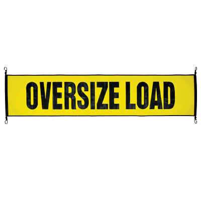 "Oversize Load Sign Bungee Banner Mesh 18"" x 84"""