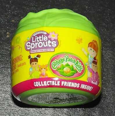 """Lot of 5  Cabbage Patch Kids """"Little Sprouts"""" Collectible Friends Container"""