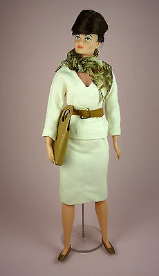 Lisa Littlechap In Two-Piece White Suit Outfit - Remco - 1964