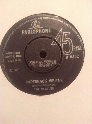 The Beatles  -  Paperback Writer  -  1966  U.k.  Parlaphone