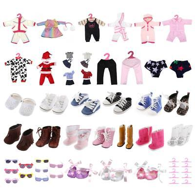 Fashion Clothes Jacket Shoes Boots Winter Dress Up for 14inch American Girl Doll