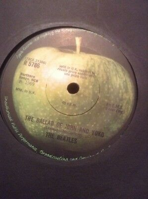 The Beatles  -  The Ballad Of John And Yoko  -  1969  U.k.  Apple