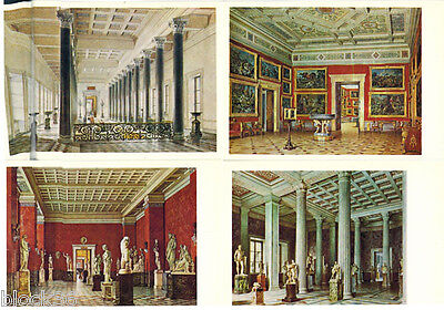 Set of 16 postcards LE NOUVEL ERMITAGE (Buildings & halls) Russian- French