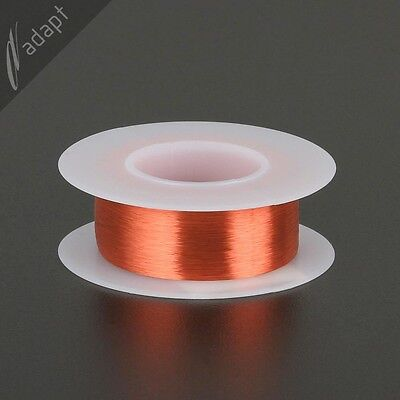 Magnet Wire, Enameled Copper, Red, 46 AWG (gauge), 155C, ~0.5oz, ~3875 ft