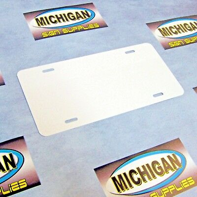 25 Pack of White .024 Aluminum License Plate Blanks **Create Your Own Designs**