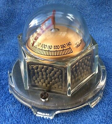 antique MOVA 1923 pat. GLASS DOME Industrial Machine age steampunk •THERMOMETER•