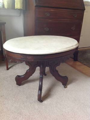 Antique Victorian Eastlake Marble Top Table