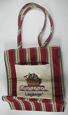 LONGABERGER tote lunch bag 2005 Christmas Holiday Sled full of Presents RARE