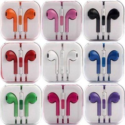 New Colour Headphones Earphone Handsfree With Mic IPHONE 6S 6S PLUS 5S 5C 5 4 4S