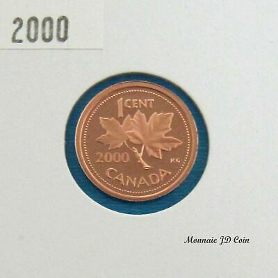 2000 Canada 1 Cent Proof Ultra Heavy Cameo  From Set