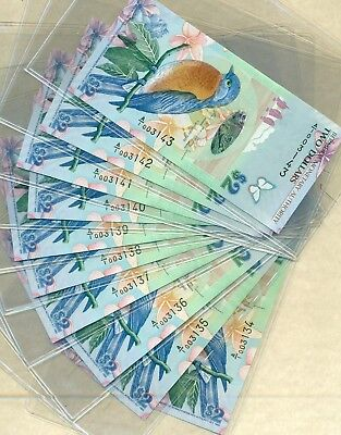 Lot 920 Bermuda 2009 Notes Very Crisp Pristine Handled With Gloves From The Mint