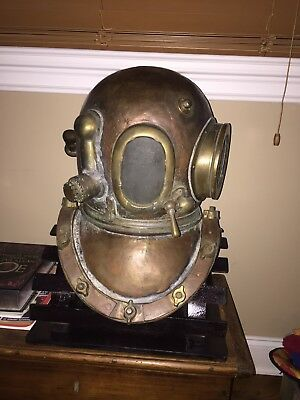 Authentic Siebe Gorman Dive Helmet with Stand