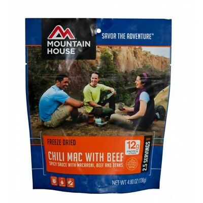 Mountain House 53128 Chili Mac w/Beef 2.5 Servings