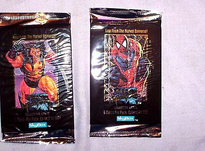 1992 Marvel Masterpieces Unopened Pack! New Sealed Joe Jusko Wolverine Spiderman