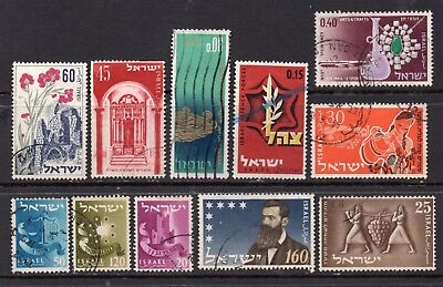 Israel: A Very Nice Mixed Group of 11-1950's  Used Issues  (Reduced Postage)