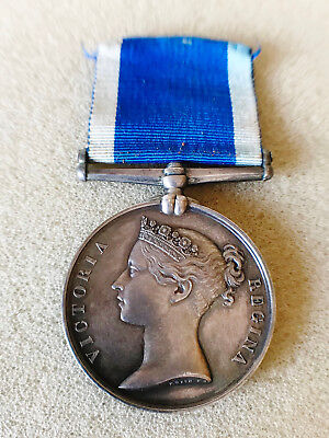 A ROYAL NAVY LSGC MEDAL. A Victorian Naval Long Service Good Conduct Medal