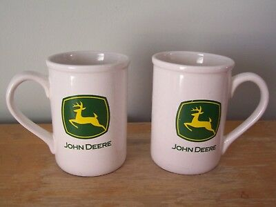 "Lot Of 2 - 4 1/2"" Gibson Ceramic John Deere Coffee Mugs"