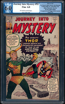 """JOURNEY INTO MYSTERY #92 """"1963"""". Very Early THOR comic! PGX Graded Fine 6.0"""