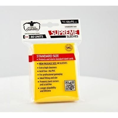 Ultimate Guard - Supreme Sleeves 80 Units - Yellow