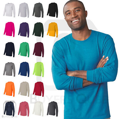 8ce5cee8c23 Jerzees Mens Active Dri-Power Long Sleeve 50 50 T-Shirt Basic Tee 1 of 1FREE  Shipping ...