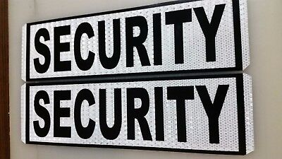 security magnetic door signs reflective white