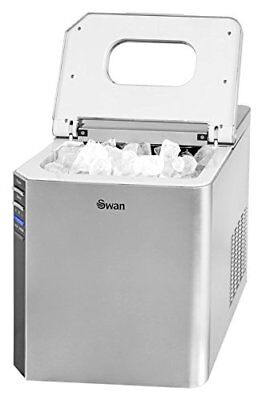 Swan SIM100 Ice Cube Maker - Counter Top Ice Machine - 3 Different Sizes -  15kg